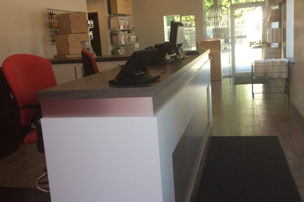 Front desk of Super-Self Storage on Townline Rd. in Abbotsord