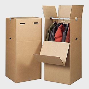 Wardrobe box for moving