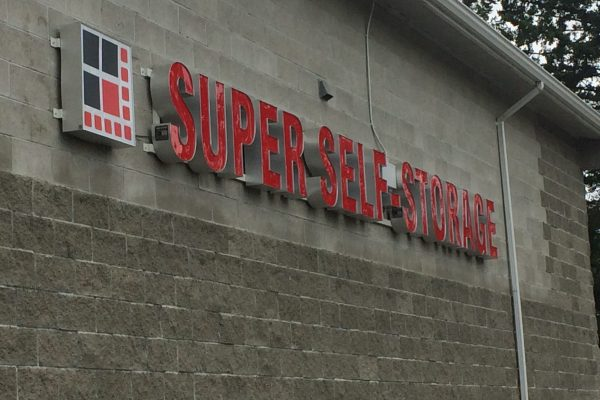 outside of Super Self-Storage building in Abbotsford